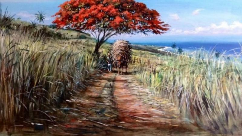 the artist Damien Clavé paints MORBAK